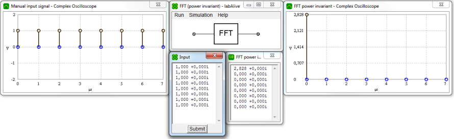 Power invariant fast Fourier transform (FFT) - labAlive calculator